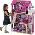 kidkraft poppenhuis amalia 3 verdiepingen, inclusief meubilair roze