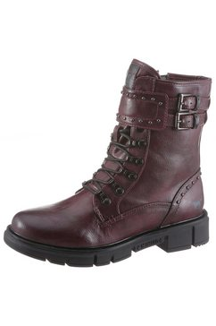 mustang shoes bikerboots rood