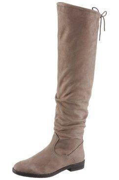 tamaris overknee-laarzen »alyia« beige