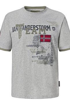 jan vanderstorm t-shirt »soelve« grijs
