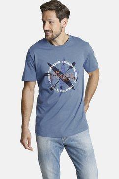 jan vanderstorm shirt met ronde hals â»kirjannâ« blauw