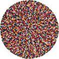 obsession wollen kleed my passion 730 viltbolletjes-vloerkleed, zuivere wol, woonkamer multicolor