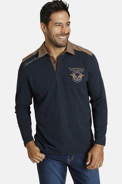 jan vanderstorm sweatshirt baldrek met kraag in contrastkleur blauw