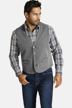 jan vanderstorm jeans vest »torell« grijs