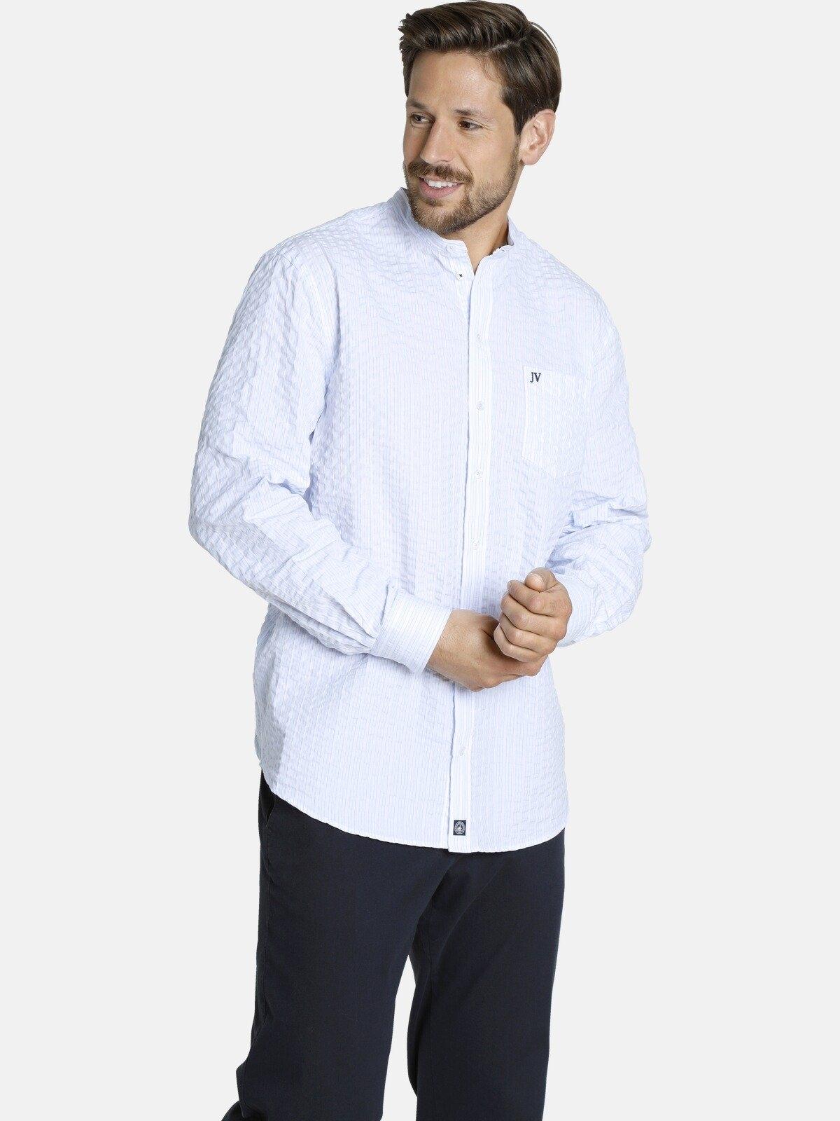 Jan Vanderstorm overhemd met lange mouwen SILLAS Katoenen overhemd met een opstaande kraag online kopen op otto.nl