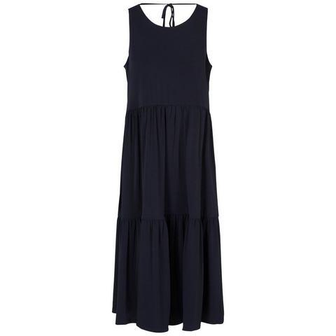 Y.A.S Strikkoord in de hals gelaagde Midi jurk,   $( function () {    $(