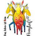 wall-art wandfolie het leven is geen ponyboerderij! multicolor
