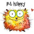 wall-art wandfolie happy hamster multicolor
