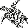 wall-art wandfolie schildpad zwart