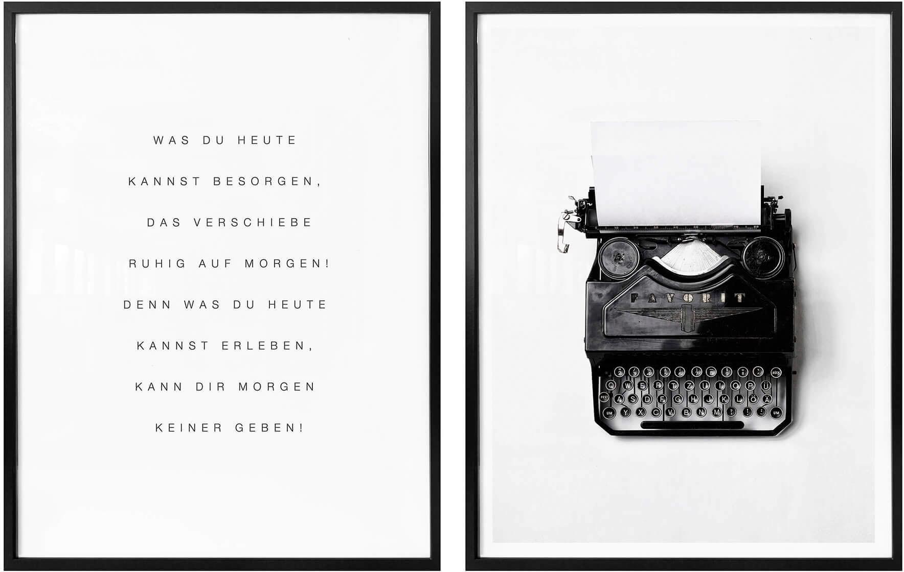 Wall-Art poster Wat jij vandaag kunt doen… met lijst, poster, artprint, wandposter (set, 2 stuks) bestellen: 30 dagen bedenktijd