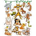 wandfolie »megapack crazy jungle« multicolor