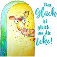 wall-art wandfolie het geluk is meteen om de hoek multicolor