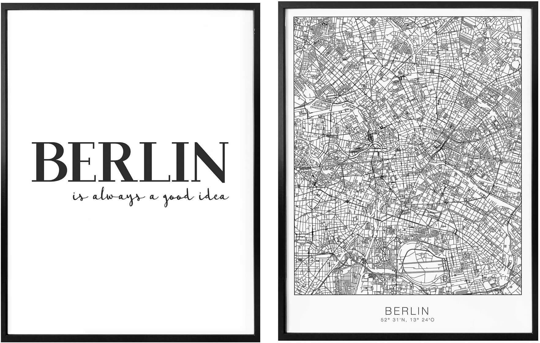 Op zoek naar een Wall-Art Poster Berlin is always a good idea met lijst, poster, artprint, wandposter (set, 2 stuks)? Koop online bij OTTO
