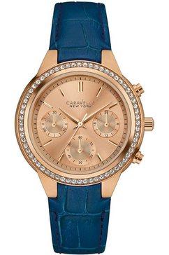 caravelle new york chronograaf »44l183« blauw