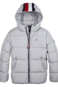 tommy hilfiger gewatteerd jack »essential padded jacket« grijs