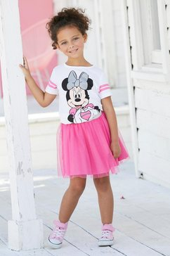 minnie mouse shirt  rok (set, 2-delig) wit