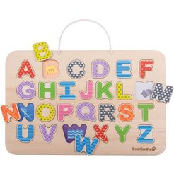 everearth steekpuzzel 'magnetische abc-puzzel  verftafel', 26 delen multicolor