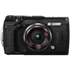 olympus »tough tg-6« outdoorcamera (12 mp, 4x optische zoom, wifi) zwart