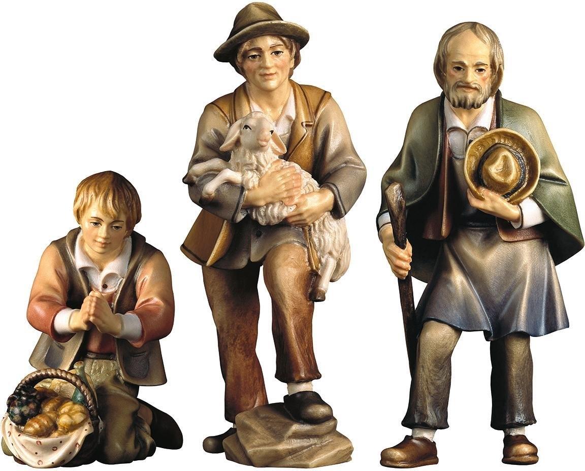 ULPE WOODART kribbefiguur Drie herders Handwerk, hoogwaardig houtsnijwerk (set, 3 stuks) bij OTTO online kopen