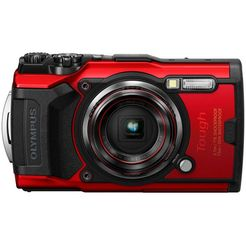 olympus »tough tg-6« outdoorcamera (12 mp, 4x optische zoom, wifi) rood