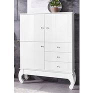 homexperts highboard »opium 07«, breedte 107 cm wit