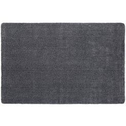 andiamo mat super cotton inloopmat, geschikt voor binnen en buiten, wasbaar grijs
