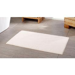 badmat »chenille«, goezze, hoogte 15 mm, met antislip-coating, geschikt voor vloerverwarming beige