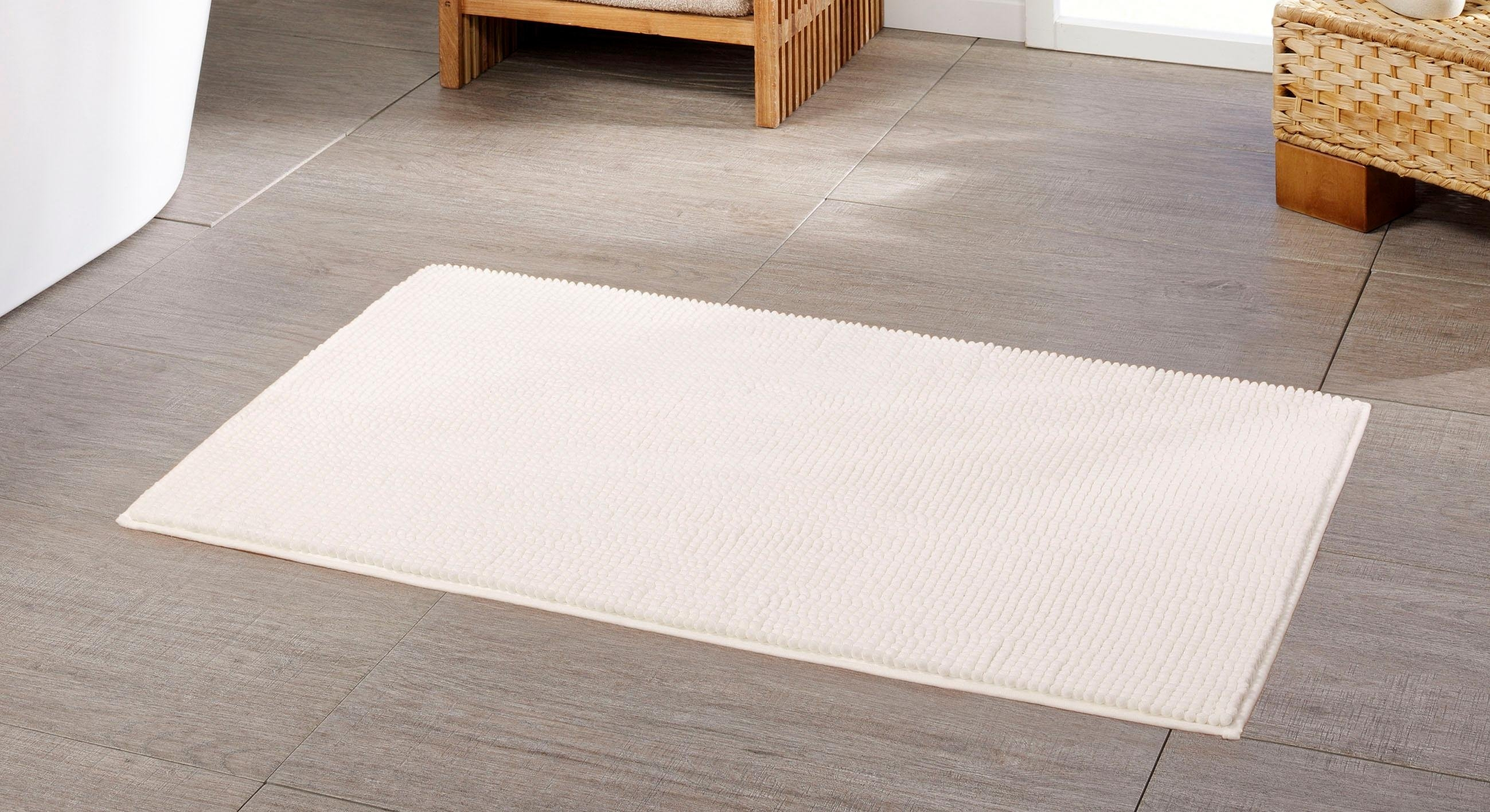 Gözze Badmat »Chenille«, hoogte 15 mm, met antislip-coating, geschikt voor vloerverwarming in de webshop van OTTO kopen
