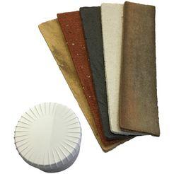 elastolith complete set: steenstrip »voorbeeldset binnen«, 21 x 5 cm, 5 kleurstaal bruin