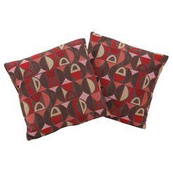 home affaire sierkussen palmera set van 2 kussens in vele kleuren en motieven (2 stuks) rood