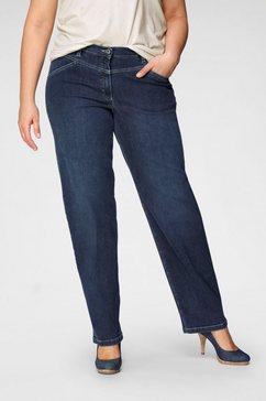 kjbrand straight jeans babsie: prettige bovenbeenwijdte met shaping-inzetten blauw