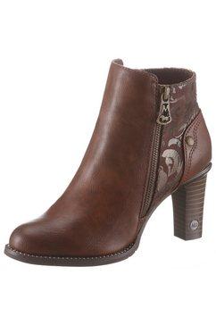 mustang shoes enkellaarsjes bruin
