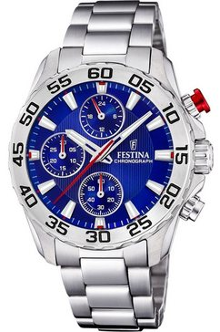festina chronograaf »junior collection, f20457-2« zilver