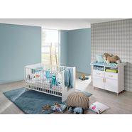 rauch dialog babymeubelset potsdam bed + commode (voordeelset, 2 stuks) wit