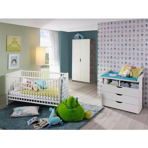 Babykamer voordeelset Bristol ledikantje + commode + 2-deurskledingkast (3-delig)