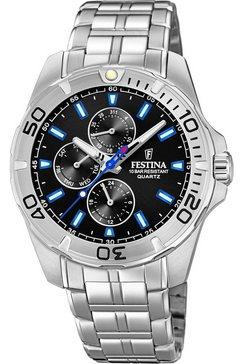 festina multifunctioneel horloge »f20445-6« zilver