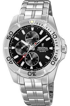 festina multifunctioneel horloge »f20445-3« zilver