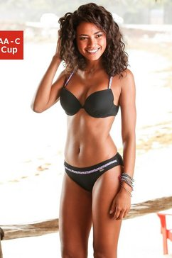 venice beach push-up-bikinitop »twist« zwart