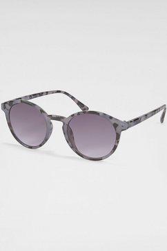primetta eyewear zonnebril met metalen montuur grijs