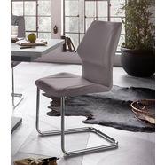 homexperts vrijdragende stoel (set van 2) grijs