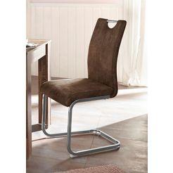 vrijdragende stoel »vila« (set van 2 of 4) bruin