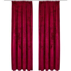 gordijn, »velvet«, my home, rimpelband per stuk rood