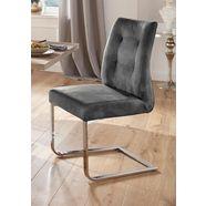 homexperts vrijdragende stoel »maria« grijs
