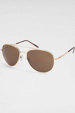 primetta eyewear zonnebril met metalen montuur goud