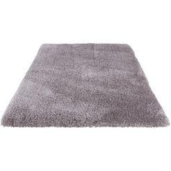 hoogpolig vloerkleed, »micro exclusiv«, guido maria kretschmer homeliving, rechthoekig, h 78 mm grijs