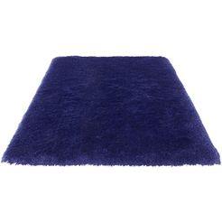 hoogpolig vloerkleed, »micro exclusiv«, guido maria kretschmer homeliving, rechthoekig, h 78 mm blauw