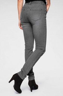 cheer skinny-jeans met bewegingsplooien grijs
