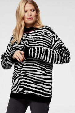 aniston casual trui met staande kraag zwart