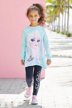 disney frozen shirt met lange mouwen  legging »elsa« blauw