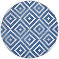 my home vloerkleed ronda sisal-look, tweezijdig te gebruiken kleed, geschikt voor binnen en buiten, woonkamer blauw